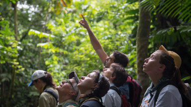 Occidental student researchers in Costa Rica.